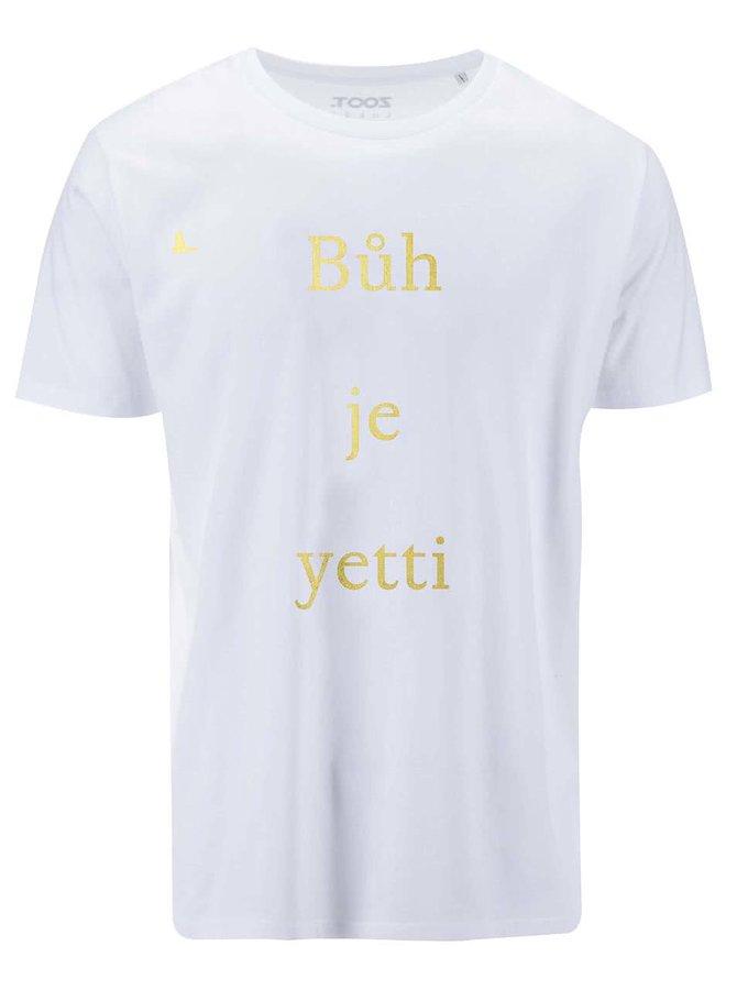 Bílé pánské triko ZOOT Lokál Bůh je yetti