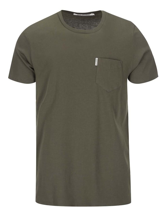 Tmavě zelené triko s náprsní kapsou Ben Sherman
