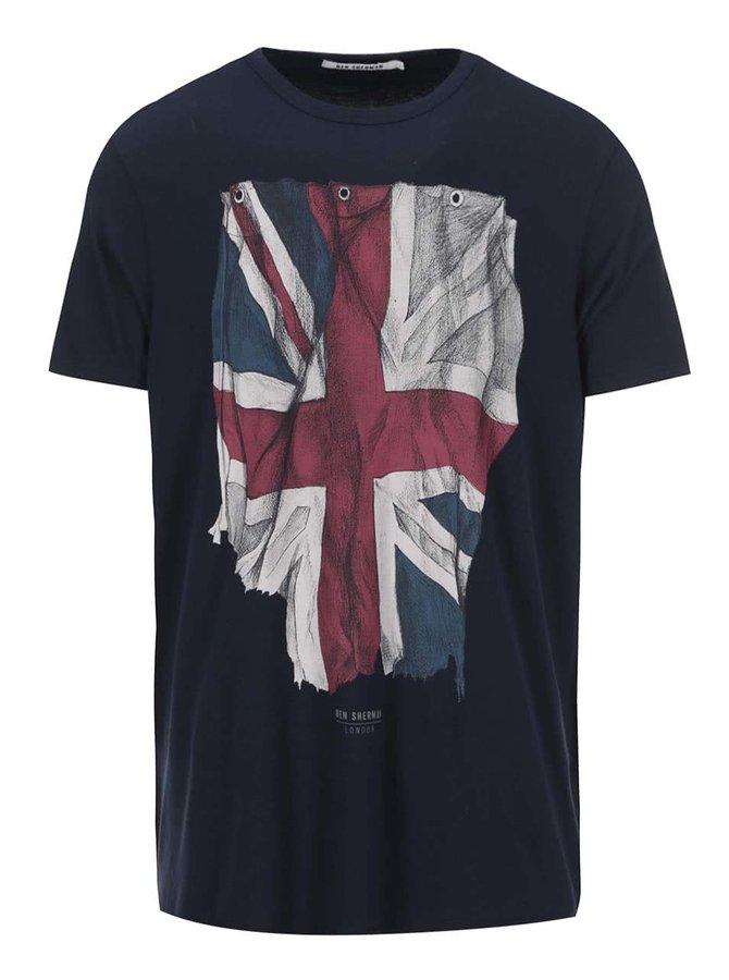 Tricou de la Ben Sherman, cu steag - bleumarin