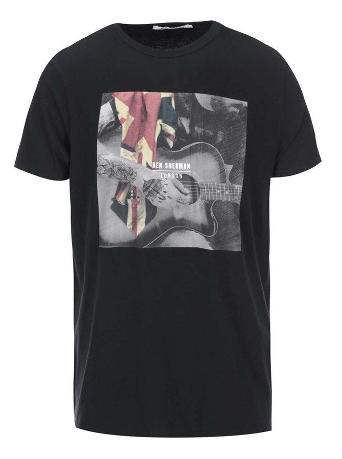 Tricou bărbătesc de la Ben Sherman, cu imprimeu - negru