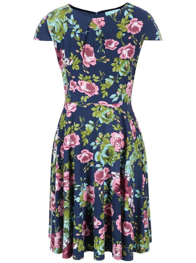 Fever London Guinevere Flare, rochie albastră cu imprimeu floral