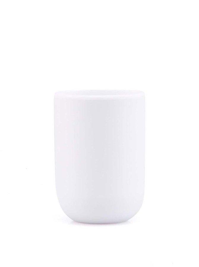 Bílý kelímek na kartáčky Umbra Touch