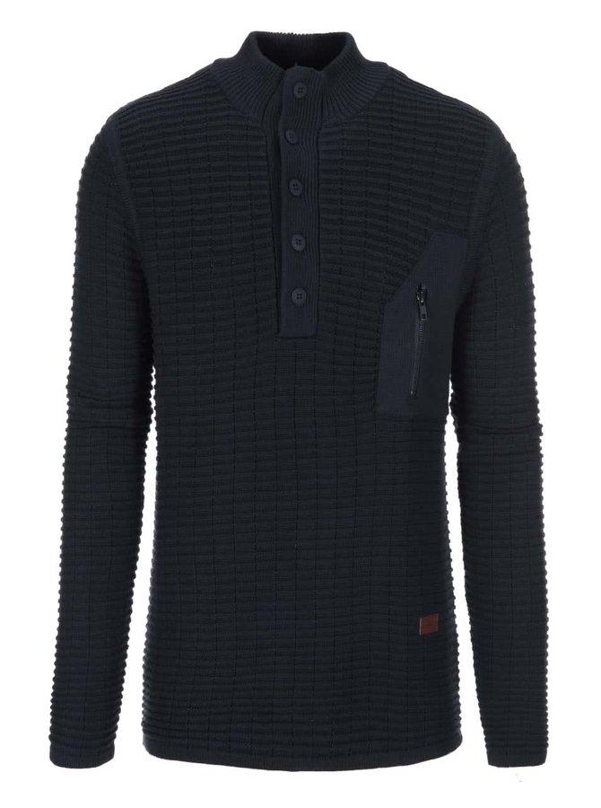 Modrý svetr s knoflíčky Bertoni Jarl