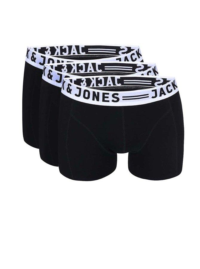 Jack & Jones Sense Set de trei perechi de boxeri - negru