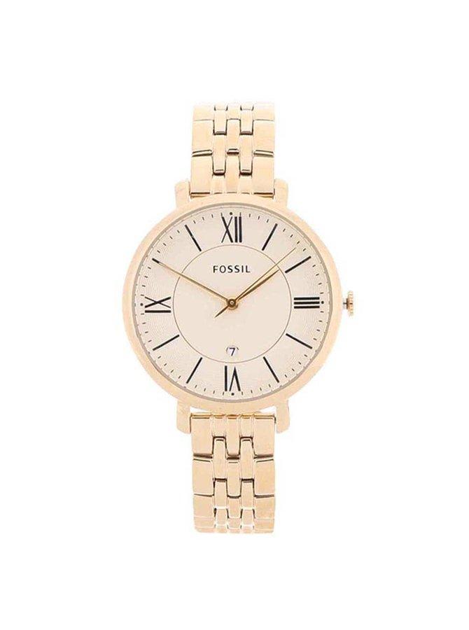 Dámske hodinky v zlatej farbe Fossil Jacqueline