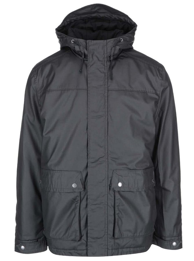 Jachetă cu glugă Selected Homme Gian Glossy - neagră