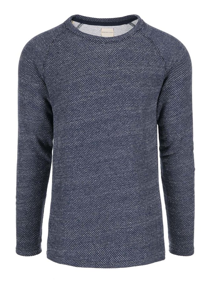 Bluză sport cu buline crem Selected Homme Crafford - albastră
