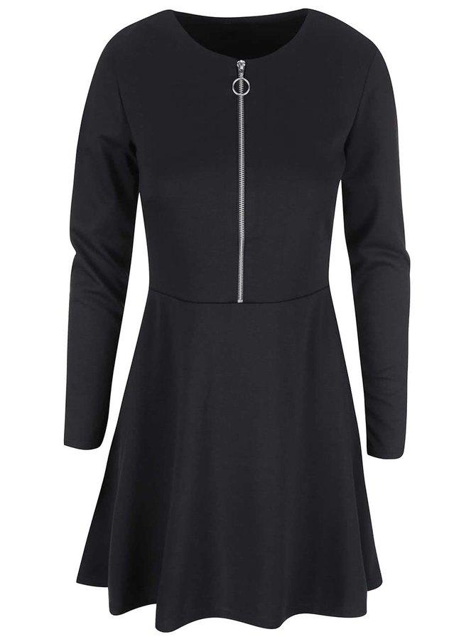 Rochie neagră cu fermoar VILA Tinny