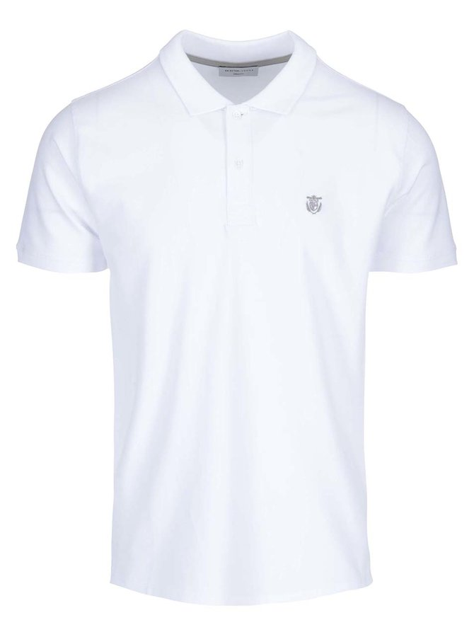 Tricou polo Selected Homme Haro - alb