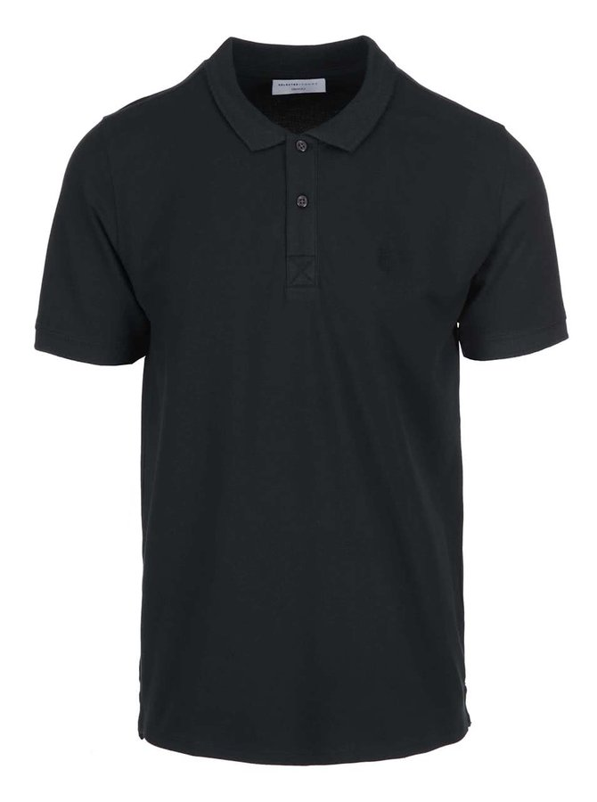 Tricou polo Selected Homme Haro - negru