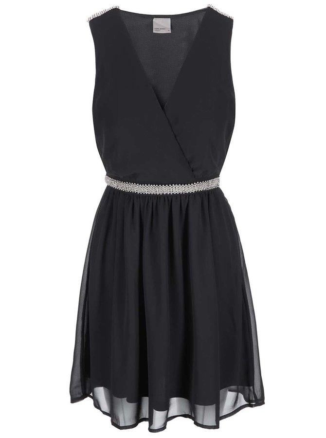 Rochie cu centură decorativă Vero Moda Sallie - negru
