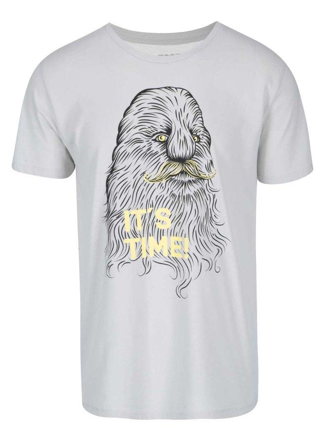 Sivé pánske tričko ZOOT Originál It Is Time