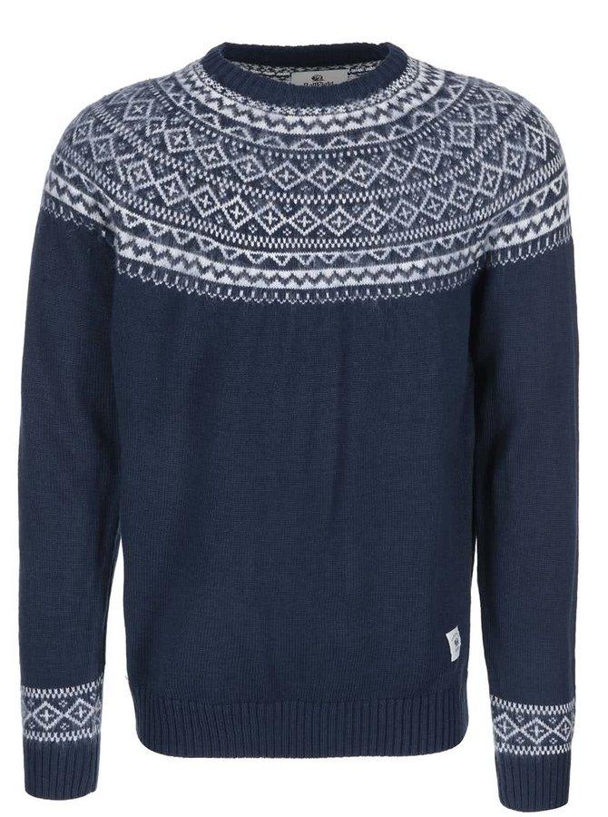 Tmavomodrý sveter a nórskym vzorom Bellfield Dalvik
