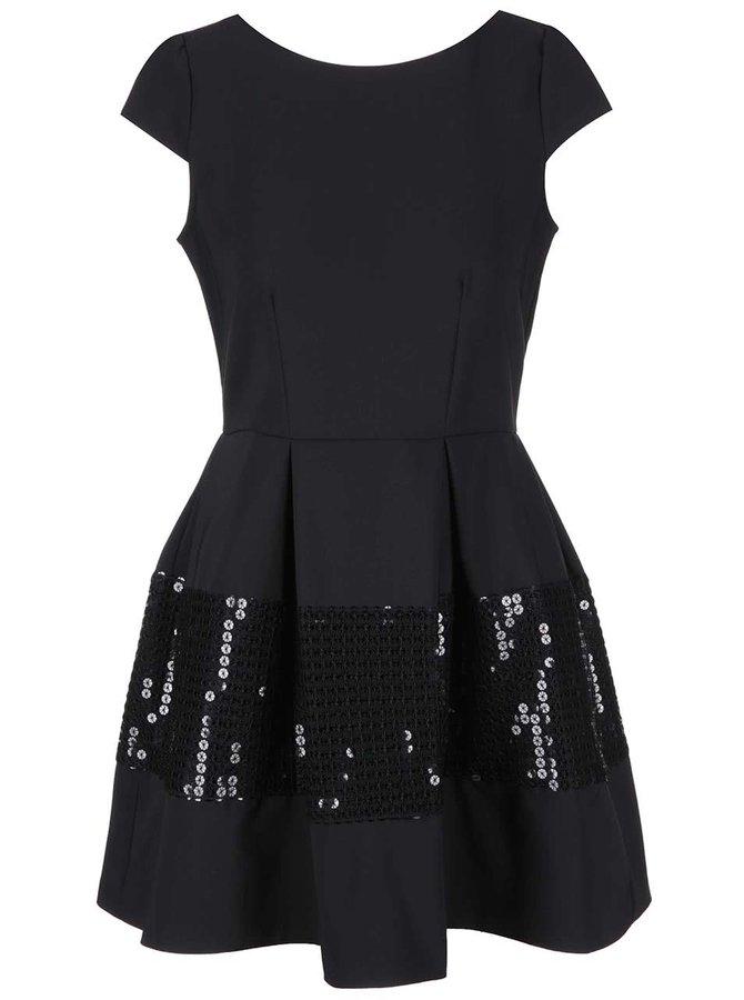 Černé šaty s flitry na sukni Closet