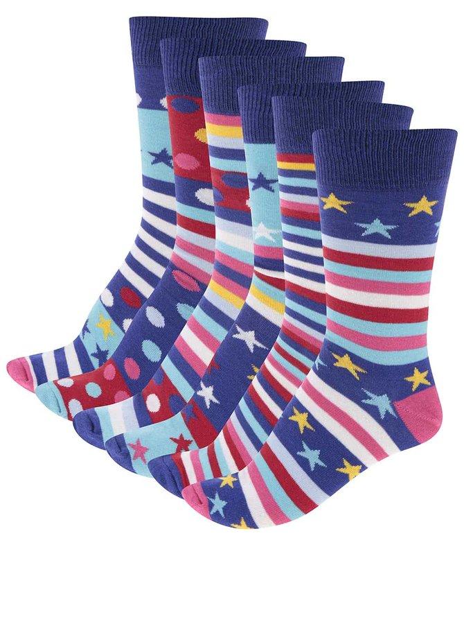 Súprava šiestich pánskych ponožiek Oddsocks Fine&Dandy
