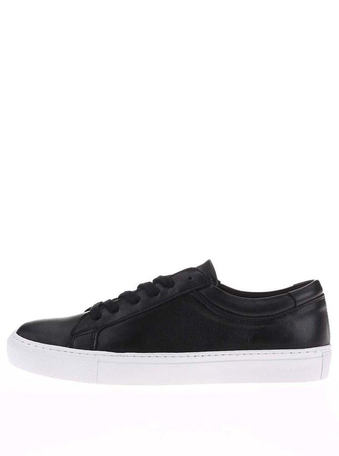 Pantofi sport din piele, negri cu tălpi albe, de la Jack & Jones