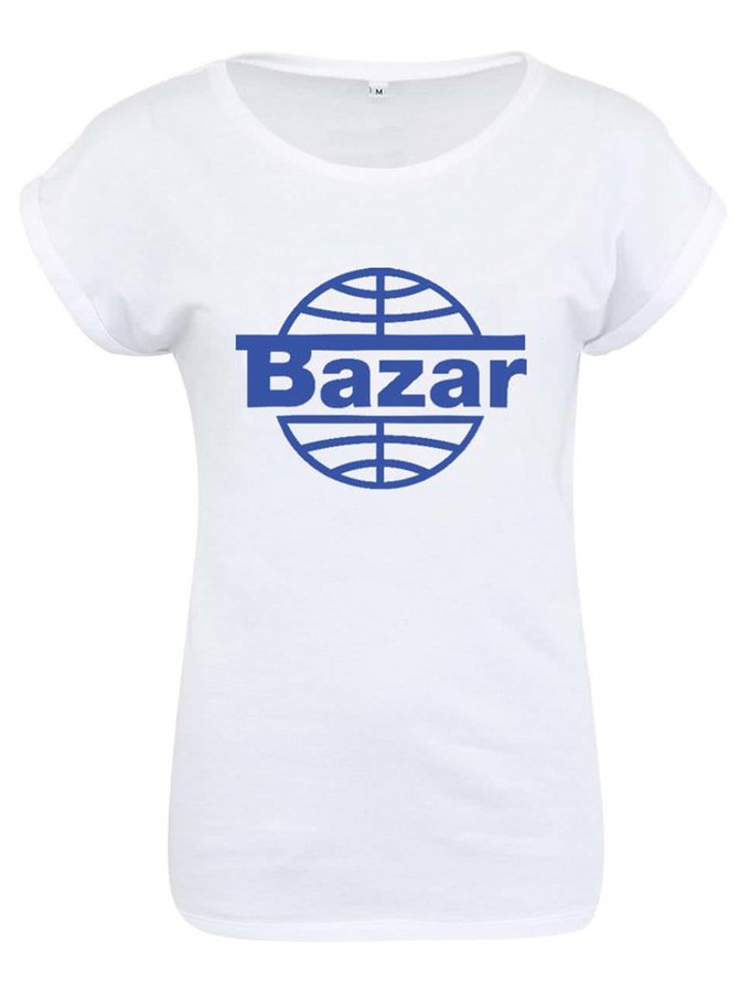 """""""Dobré"""" bílé triko s logem Vánočního bazaru"""