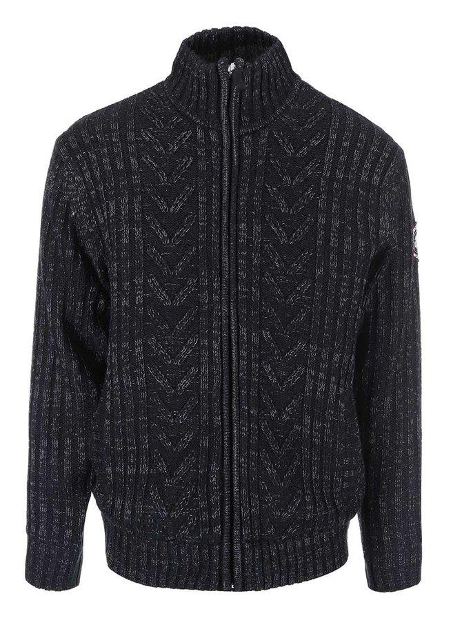 Čierny sveter s podšívkou Jacks