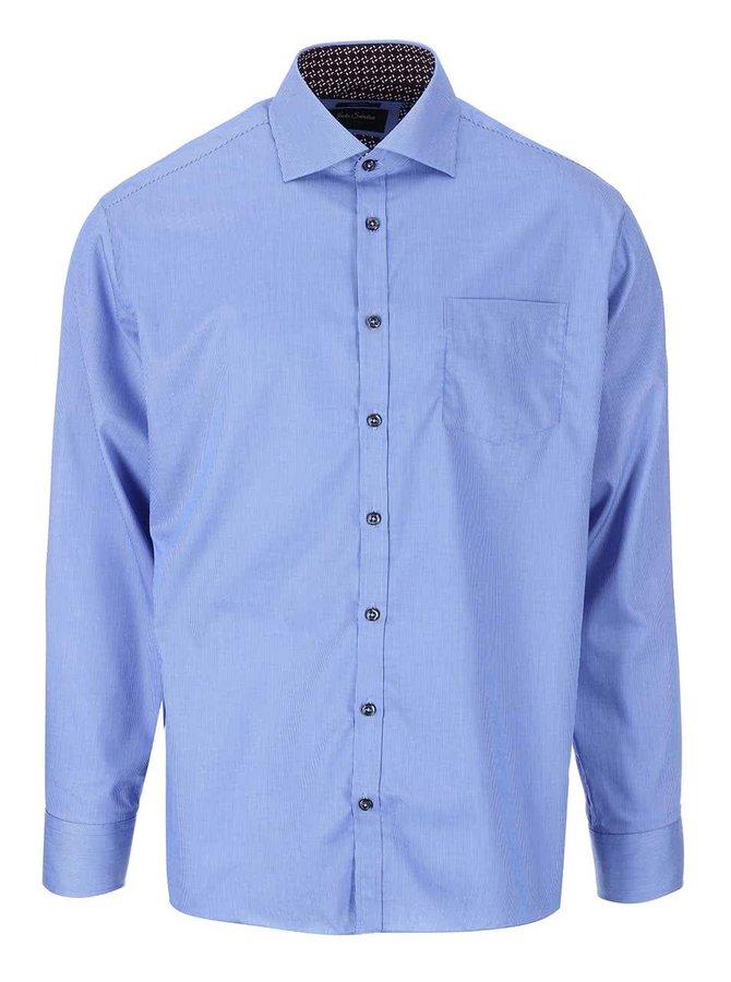 Modrá formálna košeľa s drobným prúžkom Jacks