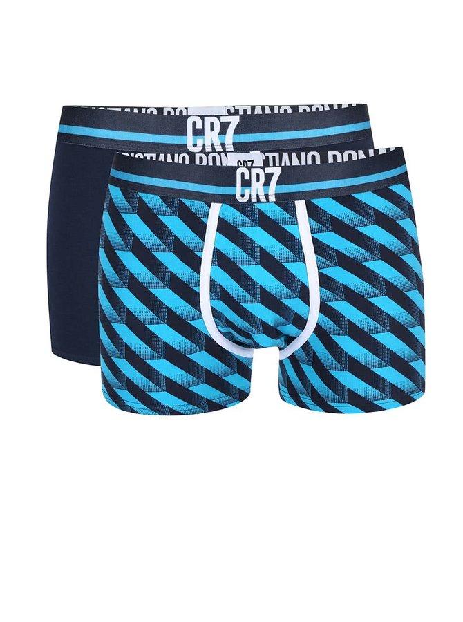 Sada dvou boxerek v modré barvě CR7