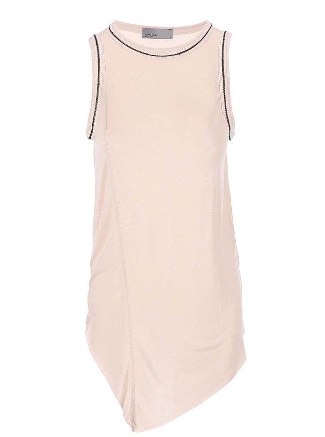 Růžový delší top Vero Moda Nullie