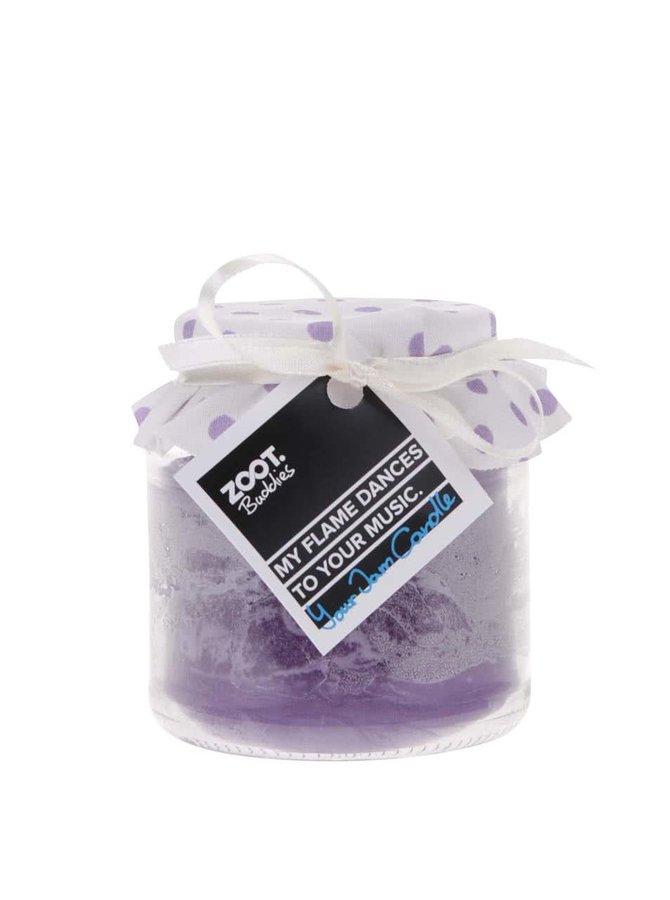 Lumânare cu parfum de lavandă în borcan de sticlă de la ZOOT Buddies