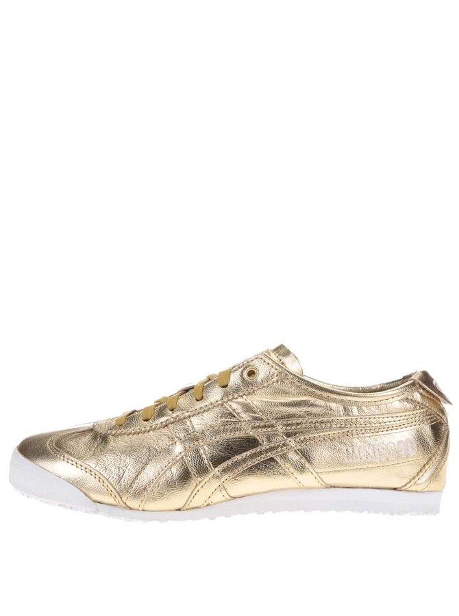 Dámské kožené tenisky ve zlaté barvě Onitsuka Tiger Mexico 66