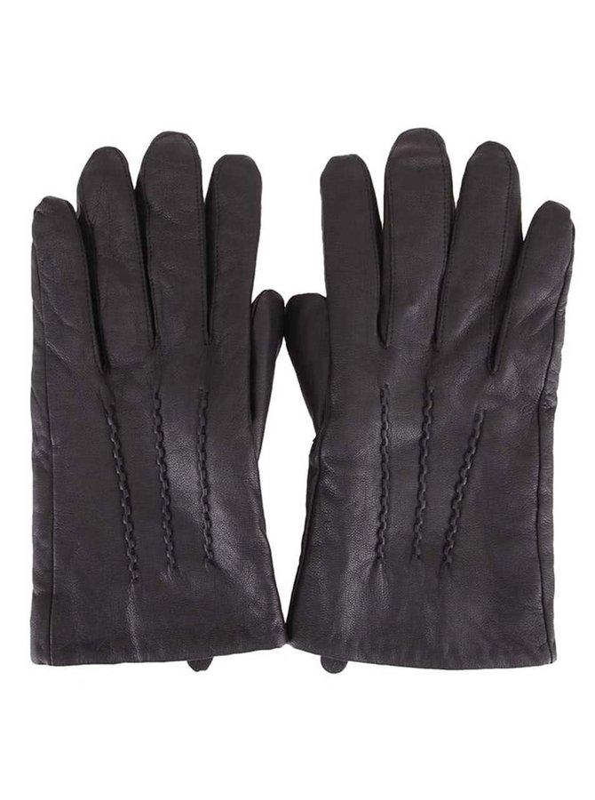 Kožené rukavice s vlnenou podšívkou Selected