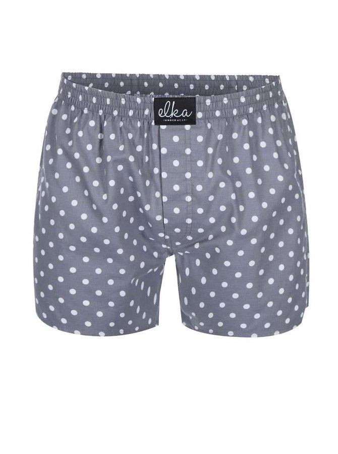 Šedé pánské puntíkované trenýrky El.Ka Underwear