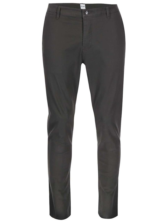 Sivo-zelené chino nohavice ONLY & SONS Cale