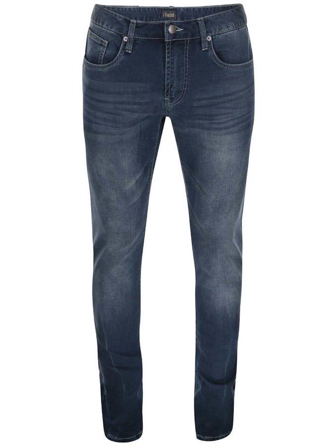 Jeanși bărbătești bleumarin, cu aspect vintage, Roy, de la !Solid