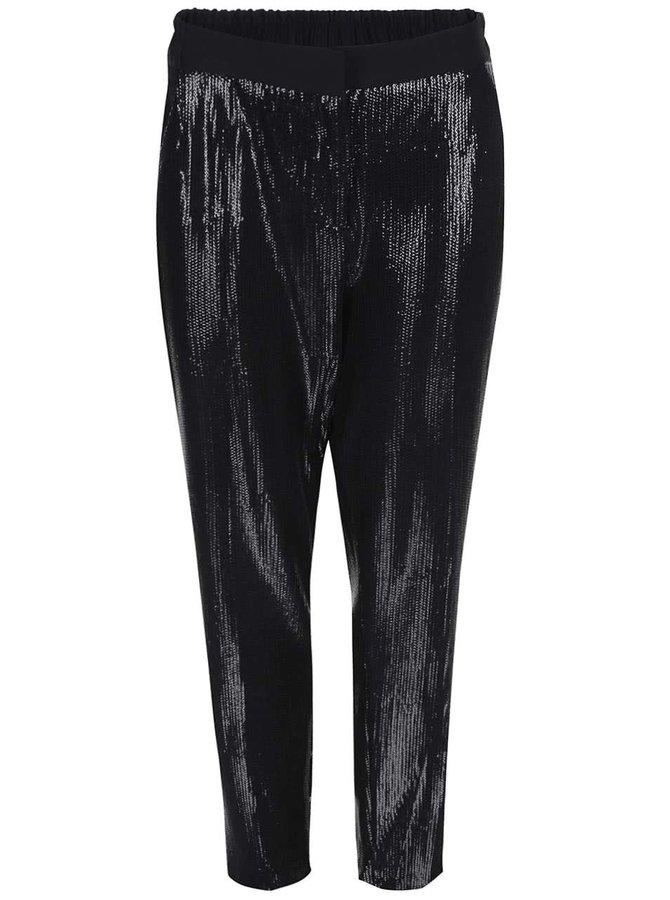 Černé flitrové kalhoty Closet