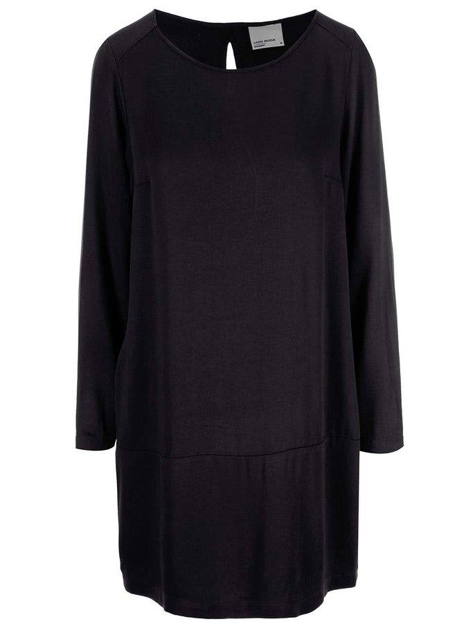 Čierne šaty s dlhým rukávom VERO MODA Measy
