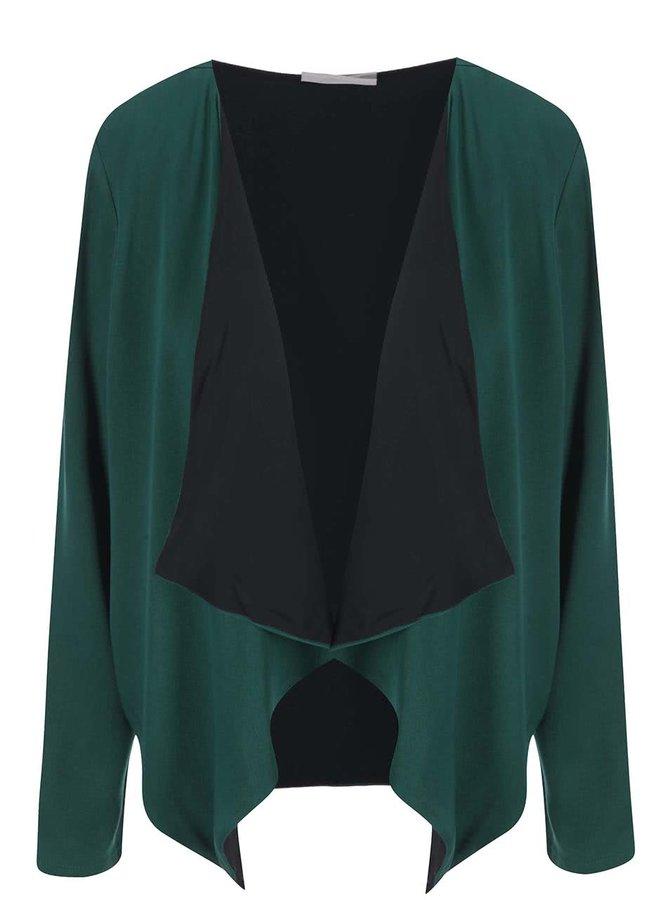 Zelený blejzr s černou podšívkou Vero Moda Measy