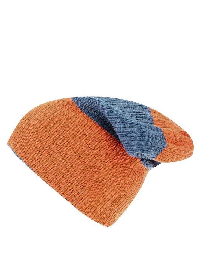 Oranžovo-modrá pánska obojstranná čiapka Rip Curl Fjord