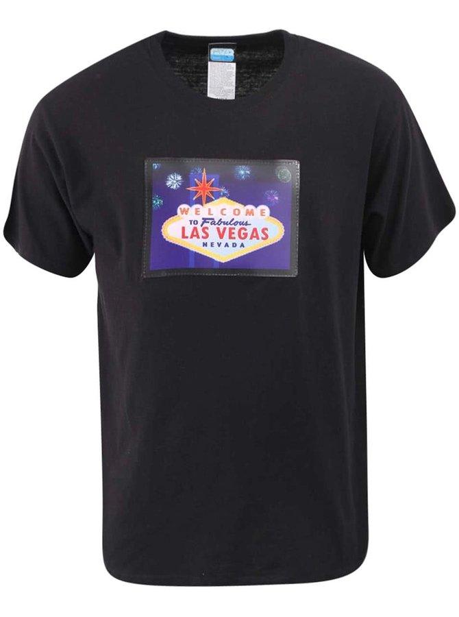 Černé pánské triko CYBwear Las Vegas