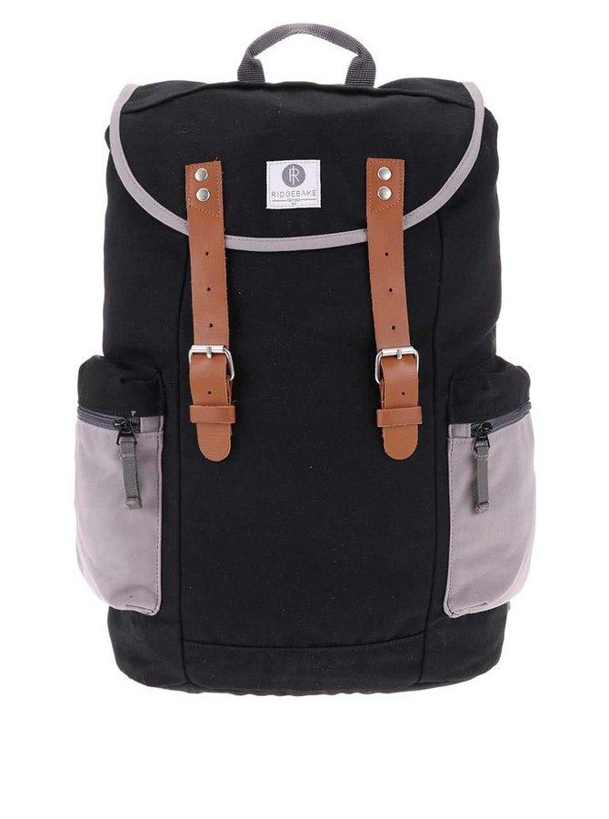 Sivo-čierny väčší batoh s vreckami Ridgebake Liam