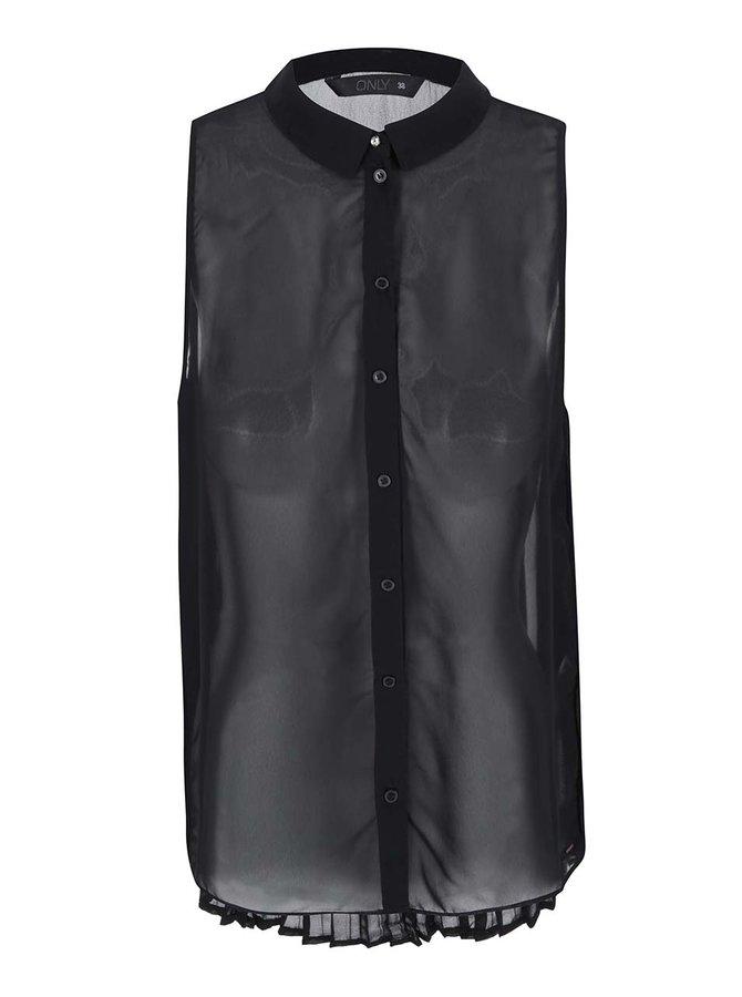 Bluză Rybilla fără mâneci, de la ONLY - neagră