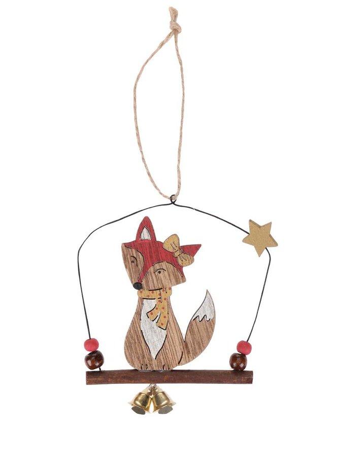 Závěsná ozdoba ve tvaru lišky se šálou Sass & Belle Festive