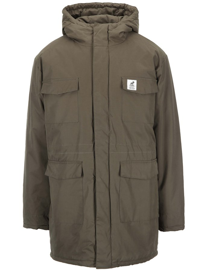 Kaki parka s kapucňou Fat Moose Mountain