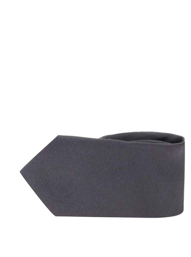 Tmavosivá hodvábna kravata Selected Homme Plain