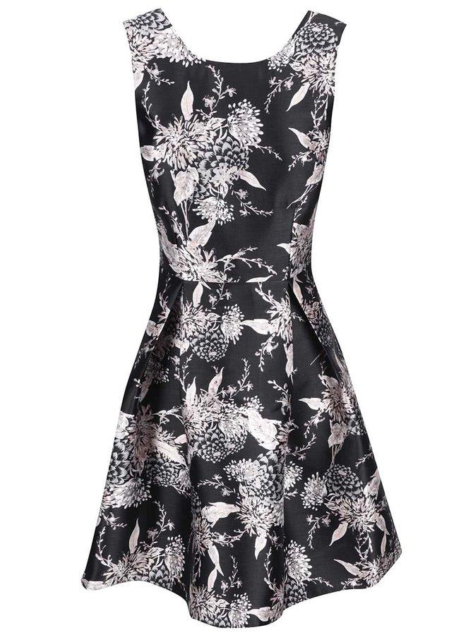 Černé šaty s květinovým vzorem Dorothy Perkins