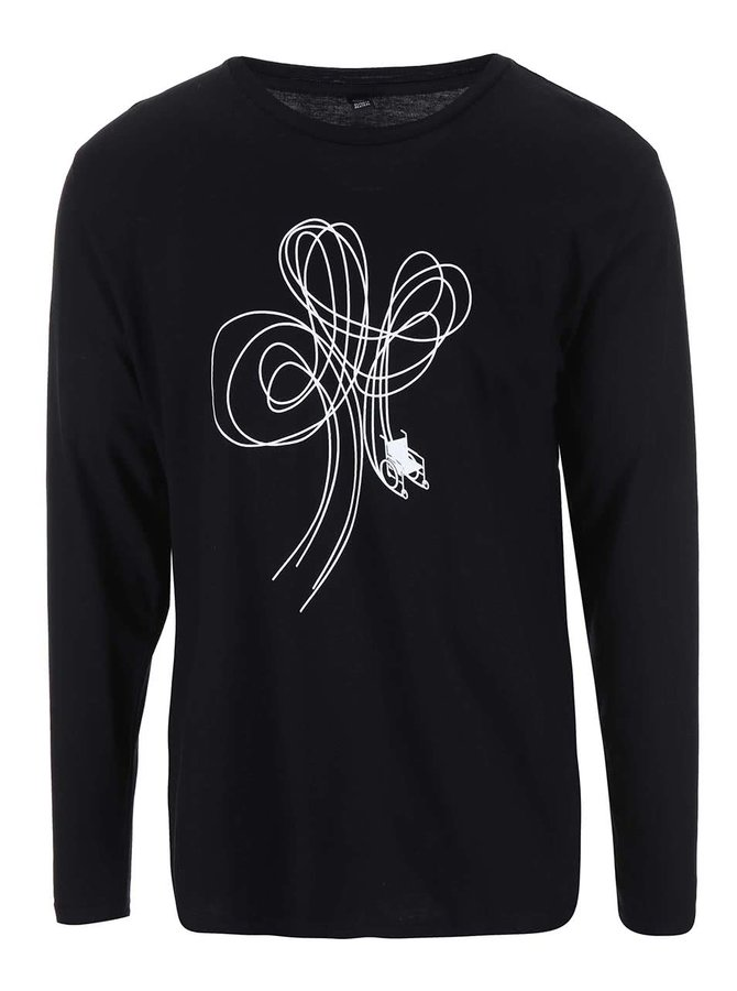 """""""Dobré"""" černé pánské tričko pro Paraple"""