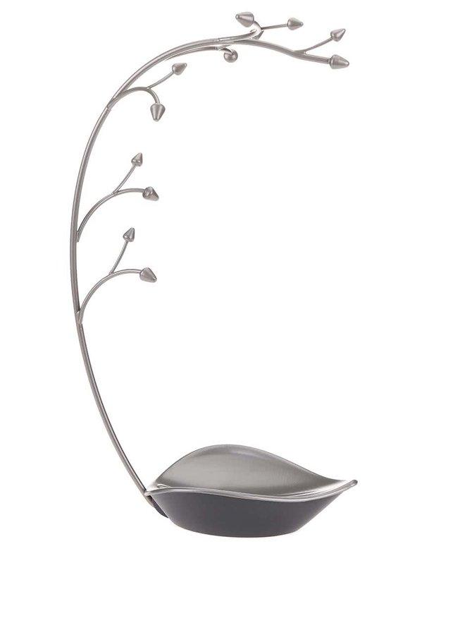 Sivý oceľový stojanček na šperky Umbra Orchid