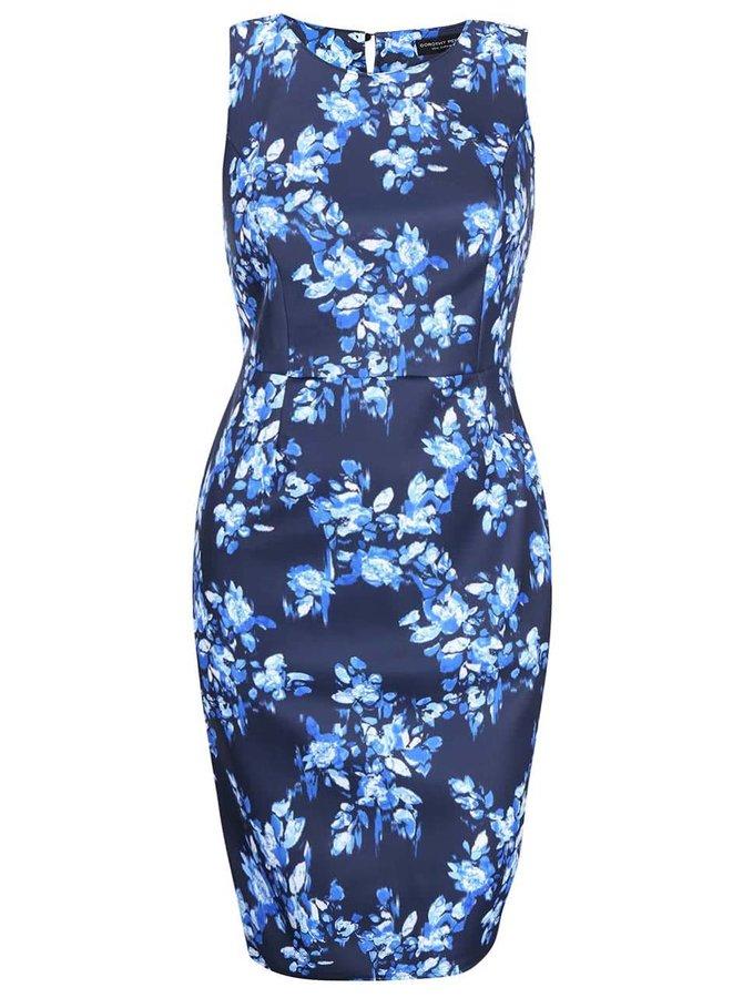 Tmavomodré šaty s kvetmi Dorothy Perkins Curve