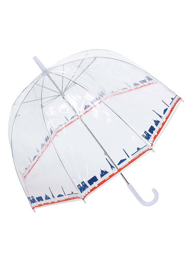 Průhledný deštník s panoramatem Paříže Lindy Lou Tricolor