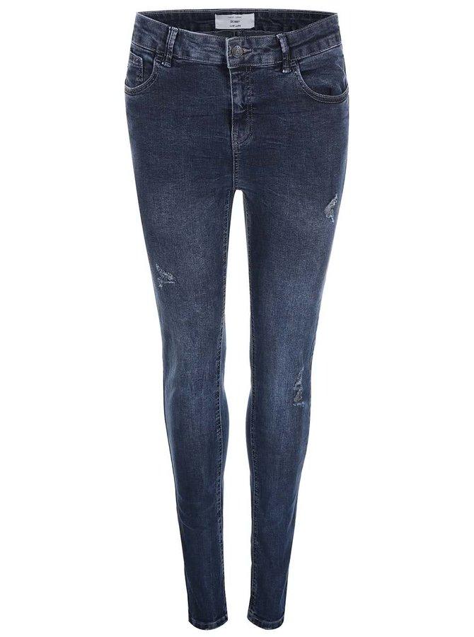 Jeanși strâmți rupți albaștri de la New Look