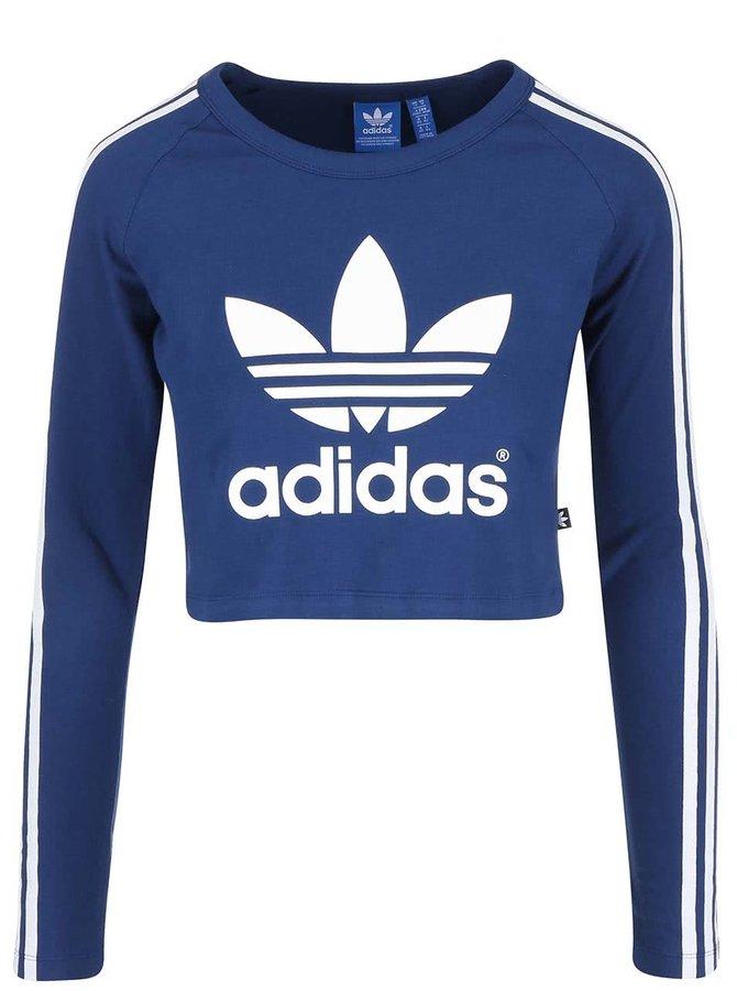 Modré krátke tričko s dlhými rukávmi adidas Originals Paris
