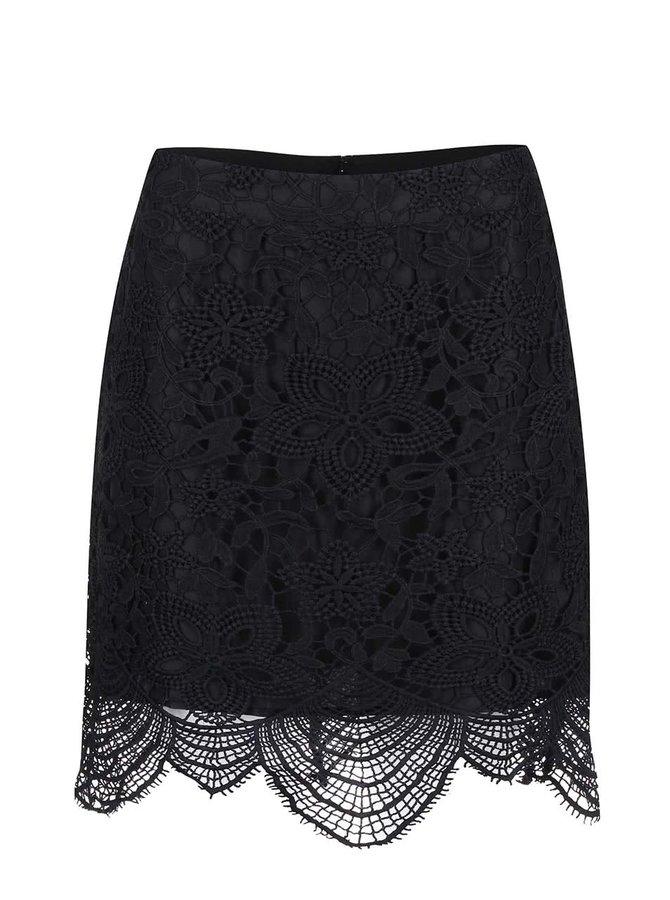 Vero Moda Mimi Black Lace Skirt