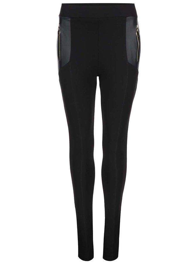Pantaloni cu fermoar lateral Dorothy Perkins negri